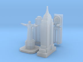 Victory Cities #2D: Americas (larger) in Smooth Fine Detail Plastic