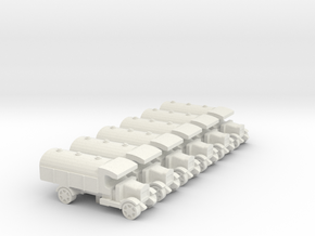 WWI Truck Tanker x6 in White Natural Versatile Plastic