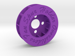 FAN SPUR HOLDER (COUNTER-CLOCKWISE ROTATION) in Purple Processed Versatile Plastic