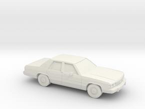 1/24 1989 ford Crown Victoria in White Natural Versatile Plastic