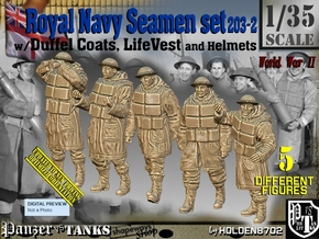 1/35 Royal Navy D-Coat+Lifevst Set203-2 in Smooth Fine Detail Plastic