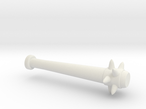 Spiked Baseball Bat for Minifigures in White Natural Versatile Plastic