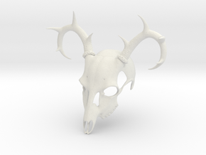 Deer Skull Mask in White Natural Versatile Plastic