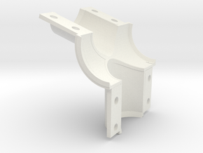 Rear BB shell mold, front in White Natural Versatile Plastic