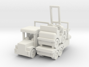 Besatzungsteil Lkw + Gabelstapler 1:87 in White Natural Versatile Plastic