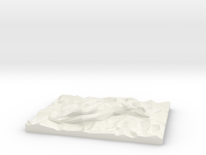 Sleeping Beauty Lowpoly in White Natural Versatile Plastic: Extra Small