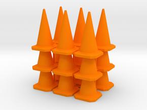 1/35 or 1/32 scale RC cones in Orange Processed Versatile Plastic