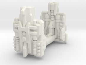 POTP Compatible Overlord Powermaster Plates in White Natural Versatile Plastic