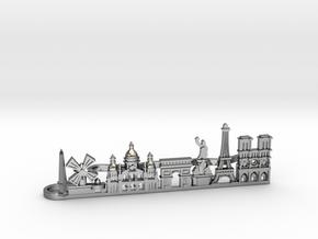Tie Clip Paris in Polished Silver