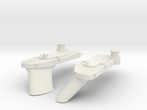1/48 USS BB59 Anchor Hawse Port & Starboard Set in White Natural Versatile Plastic