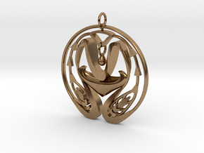 UNITY Pendant in Natural Brass