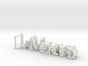 3dWordFlip: LaMerced/Jesuitas in White Natural Versatile Plastic