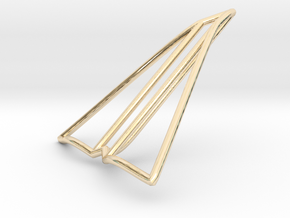 Paper plane jewelry in 14K Yellow Gold