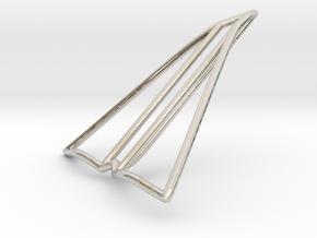 Paper plane jewelry in Platinum