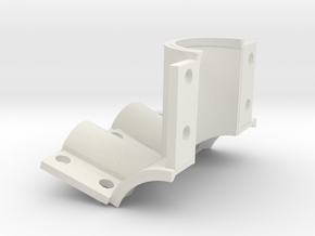 Rear BB shell mold, rear in White Natural Versatile Plastic
