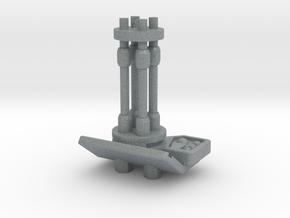 Turret Burst Cannon in Polished Metallic Plastic