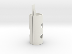 Rear BB core center in White Natural Versatile Plastic