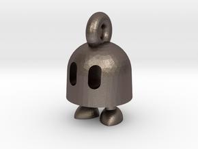 Ibb keychain in Polished Bronzed Silver Steel