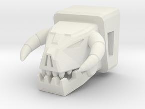 Horri-Bull Head for Shuffler/Ramhorn in White Strong & Flexible