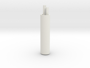 Rear BB shell, core, rear, left in White Natural Versatile Plastic