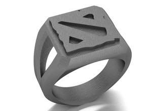 DOTA II Signet Ring in Polished Nickel Steel: 9 / 59
