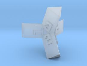 Brutalist Dice Set — Version 1 Singles in Smooth Fine Detail Plastic: d4