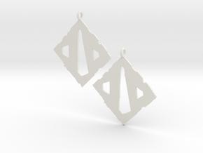 Dota II Earrings in White Natural Versatile Plastic