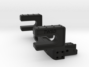 TWSDH002 Honcho Rear Body Mount in Black Natural Versatile Plastic