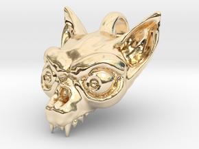 Bat Skull in 14k Gold Plated Brass