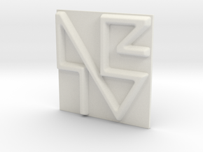 NBTV Logo in White Natural Versatile Plastic