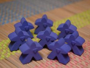 Meeples with heart in Purple Processed Versatile Plastic