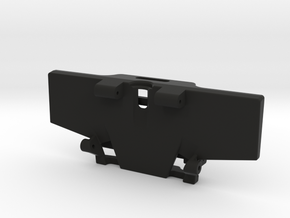Low CG Battery Tray and Rear Cross Brace for HPI V in Black Natural Versatile Plastic