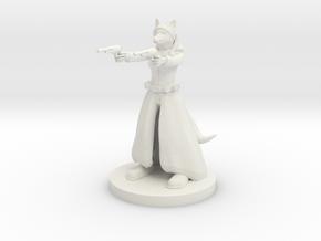 Kitsune Gunslinger Two Pistols in White Strong & Flexible