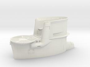 1/48 DKM Uboot VIIB Conning Tower in White Natural Versatile Plastic
