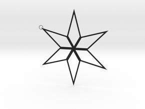 Star Pendant in Black Premium Versatile Plastic