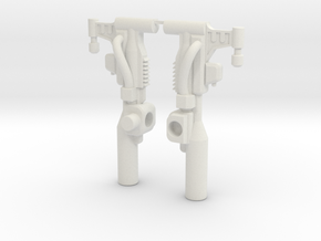 Slug Dual Blaster in White Natural Versatile Plastic