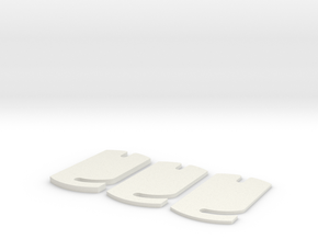 Buri rideheigtfront adjusters in White Natural Versatile Plastic