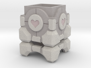 Portal Sandstone Companion Cube Ring Box in Full Color Sandstone: Medium