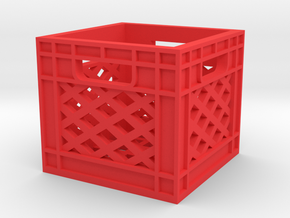 Milk Crate 1/16 in Red Processed Versatile Plastic