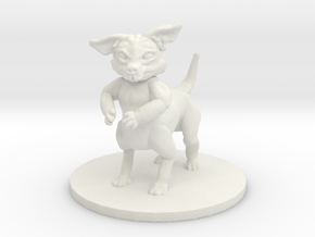 Wild Chihuahua (small canitaur) in White Natural Versatile Plastic