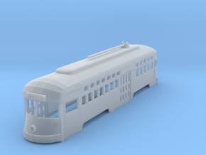 PCC Trolley Z scale in Smooth Fine Detail Plastic