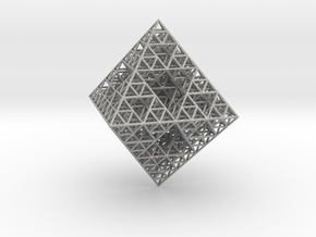 Wire Sierpinski Octahedron in Aluminum