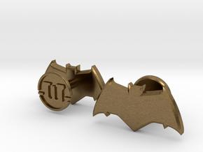 Batman cufflinks - v2 in Natural Bronze