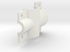 Square seat cluster shell, rt. in White Natural Versatile Plastic