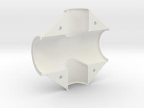 Fork headset shell, left in White Natural Versatile Plastic