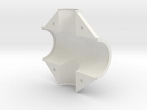 Fork headset shell,rt. in White Natural Versatile Plastic