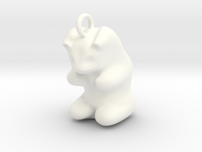 "pendant: Kinder Froh ""Schadenfreude""  in White Processed Versatile Plastic"