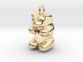 pendant: Kinder Froh  in 14K Yellow Gold