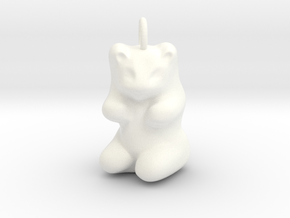 """pendant: Kinder Froh """"Qu'est-ce que c'est?""""  in White Processed Versatile Plastic"""