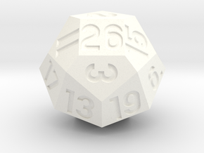 d26 with 4-fold rotational symmetry in White Processed Versatile Plastic